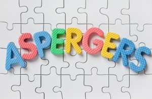 The Word Aspergers Spelled On Blank Puzzle Pieces